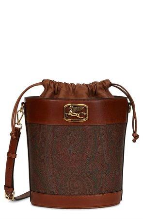 Pegaso Paisley Jacquard Bucket Bag