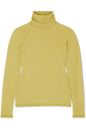 Max Mara Wool Turtleneck Sweater In Yellow | ModeSens