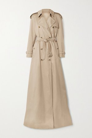 Cotton-gabardine Trench Coat - Beige