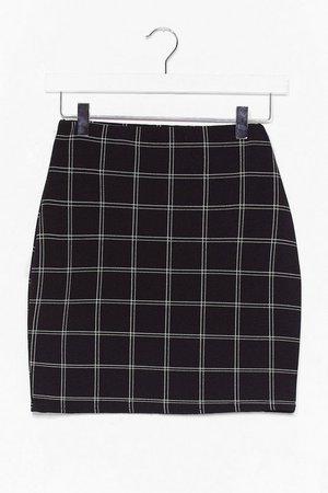 check mini skirt | Nasty Gal