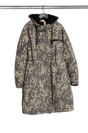 SPOTTED CHINE-PRINT PARKA, No21