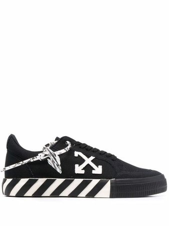Off-White Low Vulcanized Canvas Sneakers - Farfetch