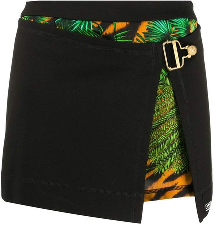 Layered Jungle Print Shorts
