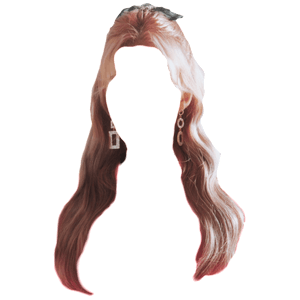 pink blonde ish hair png half up png