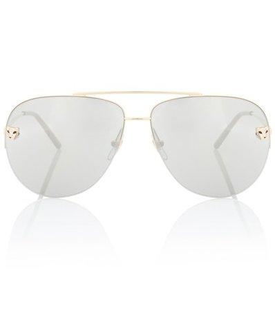 Panthère de Cartier aviator sunglasses
