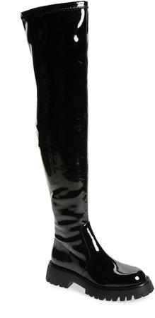 Break Thigh High Boot