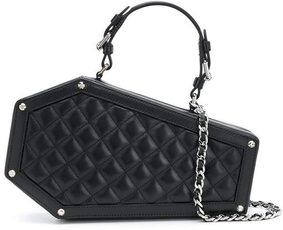 quilted coffin-shaped bag