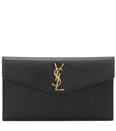 Saint Laurent - Uptown leather clutch | Mytheresa