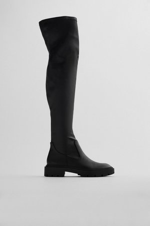 TALL FLAT STRETCH BOOTS TRF | ZARA United Kingdom