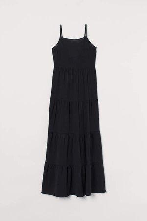 Creped Maxi Dress - Black
