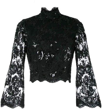 Alice+Olivia Trisha bell sleeve blouse