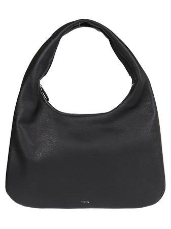 Black Leather Everyday Medium Tote Bag