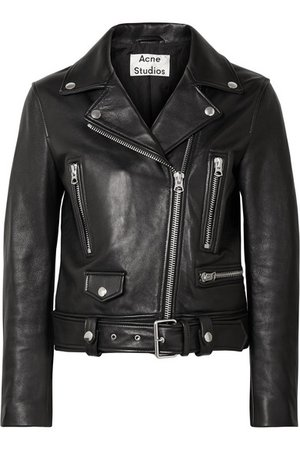 Acne Studios | Leather biker jacket | NET-A-PORTER.COM