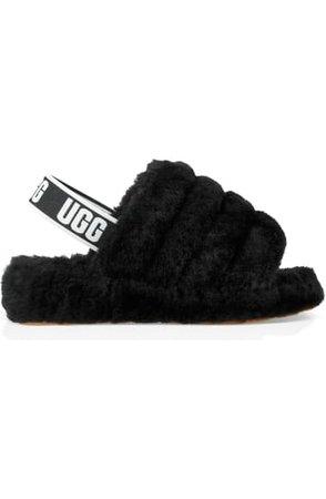 UGG® Fluff Yeah Genuine Shearling Slingback Sandal (Women) | Nordstrom