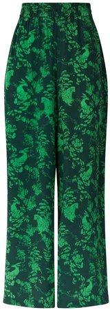 Klements - Pluto Pants In Garden Puppets Print Green