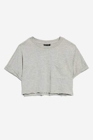 Cut Off Cropped T-Shirt