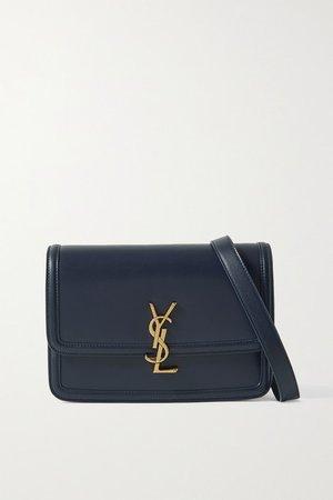 Solferino Medium Leather Shoulder Bag - Midnight blue