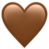 Brown Heart Emoji