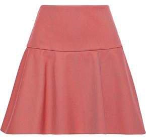 Flared Twill Mini Skirt
