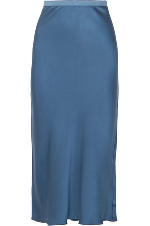Anine Bing | Bar silk-satin midi skirt | NET-A-PORTER.COM