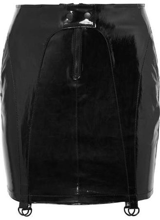 Zander Patent-leather Mini Skirt - Black