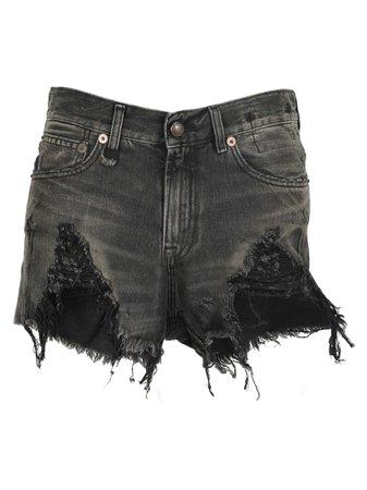 R13 R13 Shredded Slouch Shorts