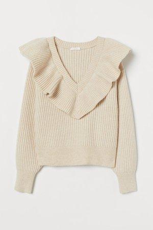 Knitted jumper - Beige - Ladies | H&M GB