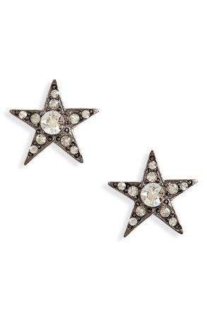 Oscar de la Renta Crystal Star Button Earrings | Nordstrom