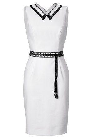 Sheath with Beaded Collar and Belt Gr. IT 42