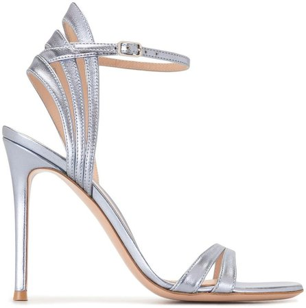 Ankle-Strap Leather Sandals