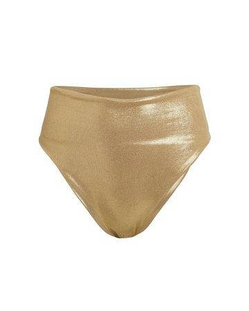 Marina High-Waist Bikini Bottoms