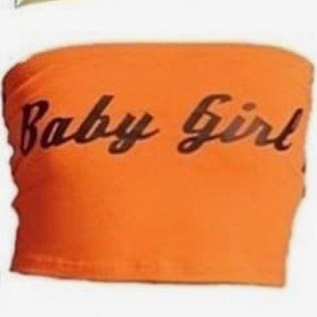 orange tube top baby girl