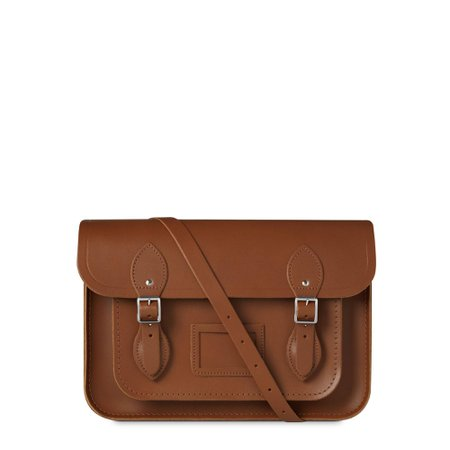 Leather satchel brown