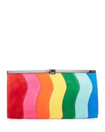 Christian Louboutin Palmette Rainbow Clutch