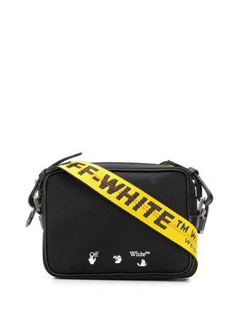 Off-White OW LOGO NYLON CROSSBODY BLACK WHITE - Farfetch