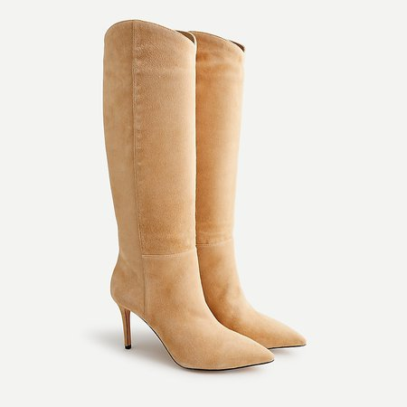 J.Crew: High-heel Tall Suede Boots For Women