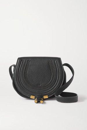 Marcie Mini Textured-leather Shoulder Bag - Black
