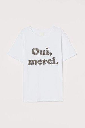 Jersey T-shirt - White