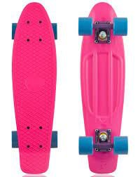 (1) 22'  Skateboard Retro Style, Pink