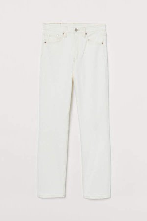 Vintage Slim High Ankle Jeans - White