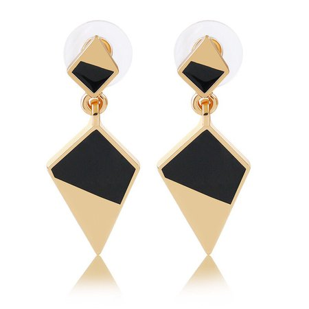 gold black earrings