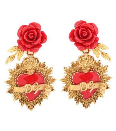 Rose Clip-On Earrings - Dolce & Gabbana   mytheresa.com