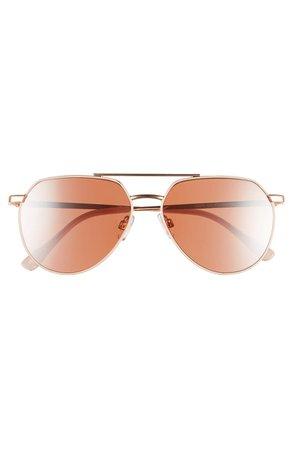 BP. 57mm Geometric Aviator Sunglasses | Nordstrom
