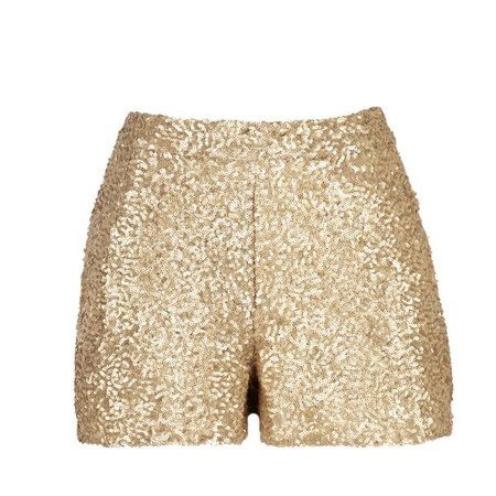 Gold Sequin Shorts With Pockets ($32)