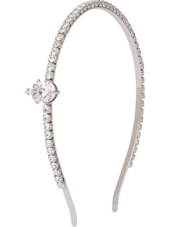 Silver Miu Miu Queen Crystal Jewels headband - Farfetch