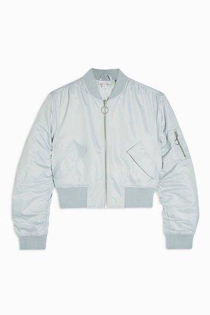 Mint Bomber Jacket | Topshop blue