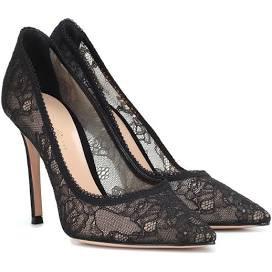 flower lace heels black - Google Search