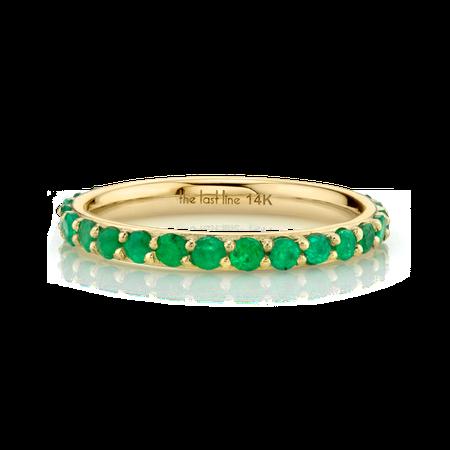 Emerald Biggie Eternity Ring Band