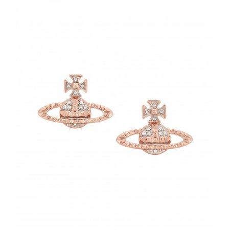Vivienne Westwood Mayfair Bas Relief Earrings Pink Gold   Silver Tree Jewellery