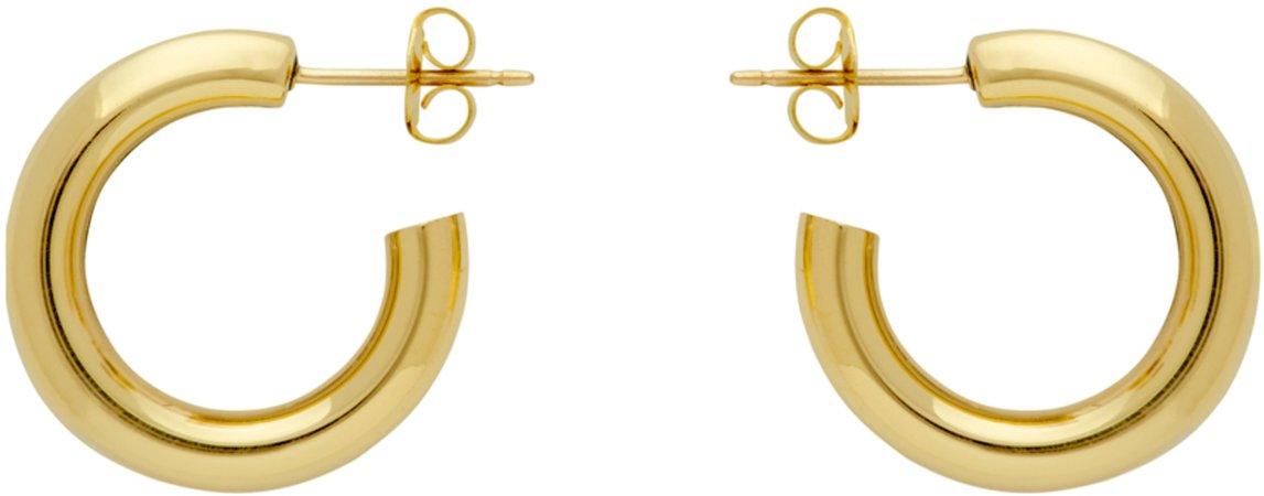 Gold Medium Hoop Earrings